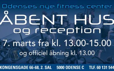 Åbenthus og reception i Fin Form Odense