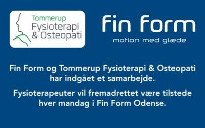 Samarbejde med TFO Fysioterapi i Fin Form Odense