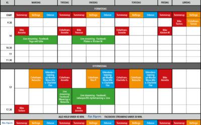 Holdplan for udendørstræning, samt LiveStream (Facebook)